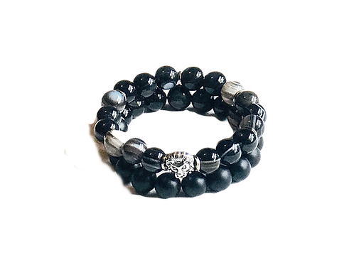 Agate Bracelet Stack