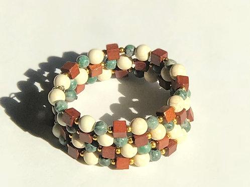 Green & Cream Bracelet