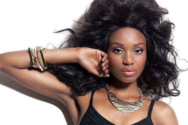 model wearing trendy jewelry