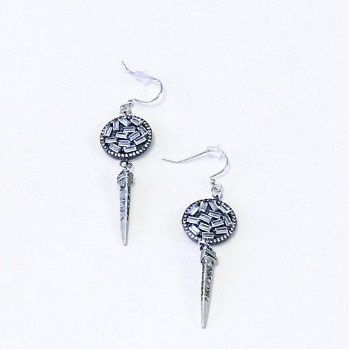 Gunmetal Pave Earrings