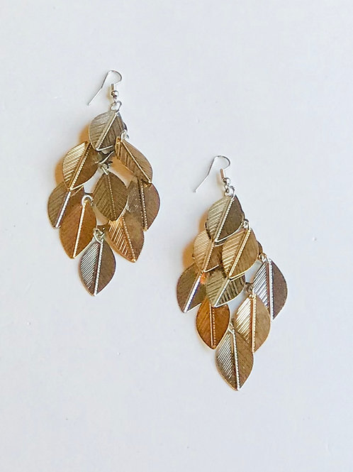 Two-Tone Chandelier Earrings