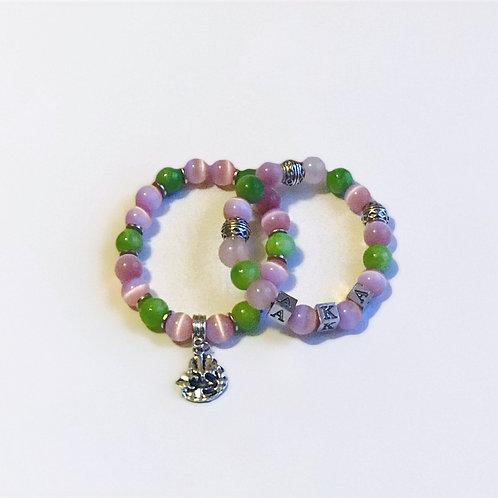AKA Letter Bracelet w/Frog