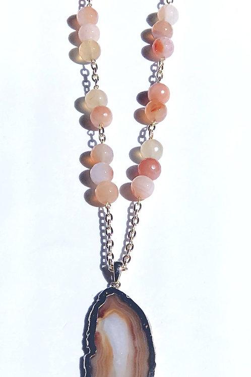 Orange Agate Necklace Set