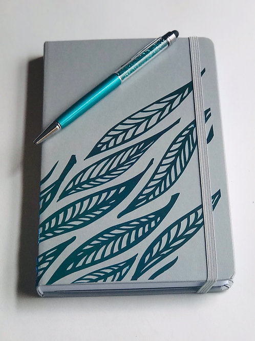 Gray Feather Journal & Pen