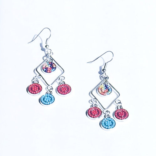 Triangle Chandalier Earrings