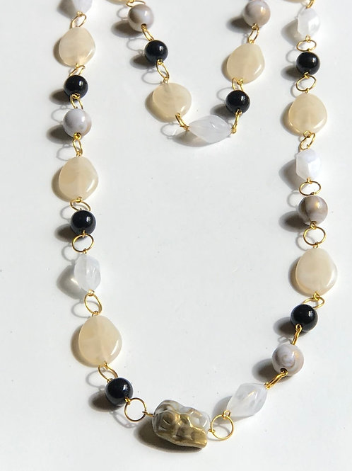 Long Acrylic Beads Necklace