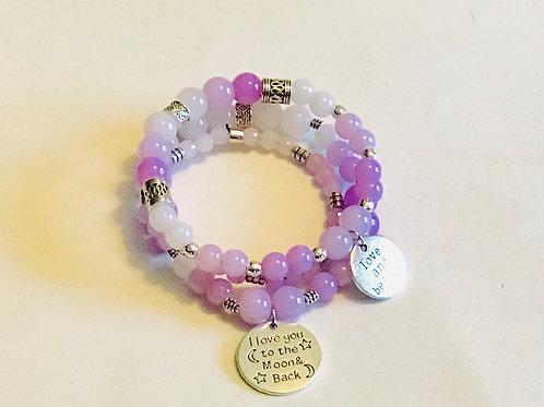 Purple Ombré Bracelet Set