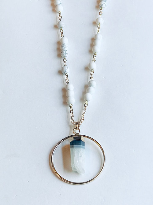 White Quartz Necklace Set