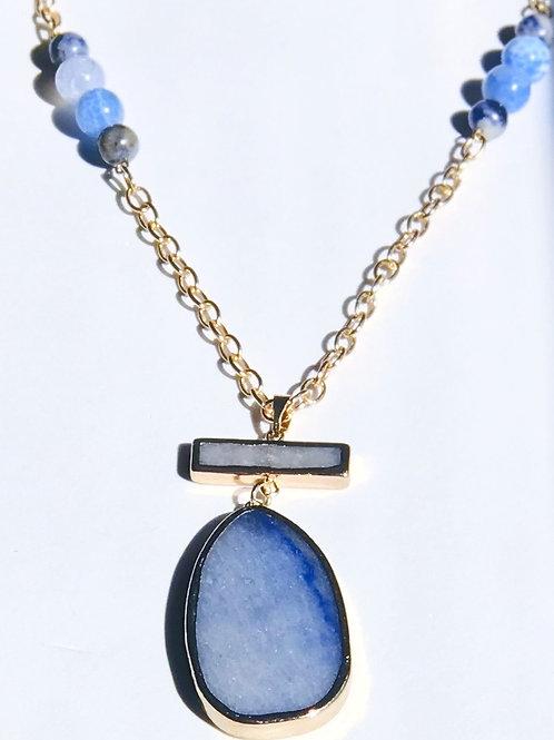 Blue Quartz Necklace