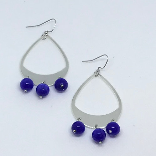 Rhodium Teardrop Earrings