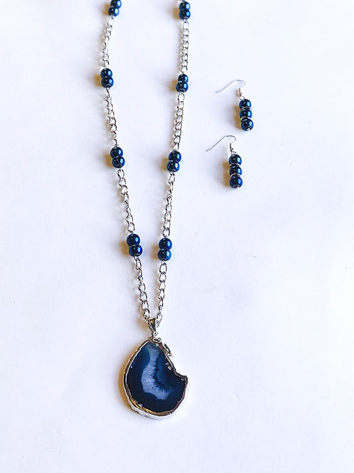 Dark Blue Agate Set