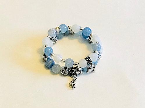 Blue Music Bracelet Set