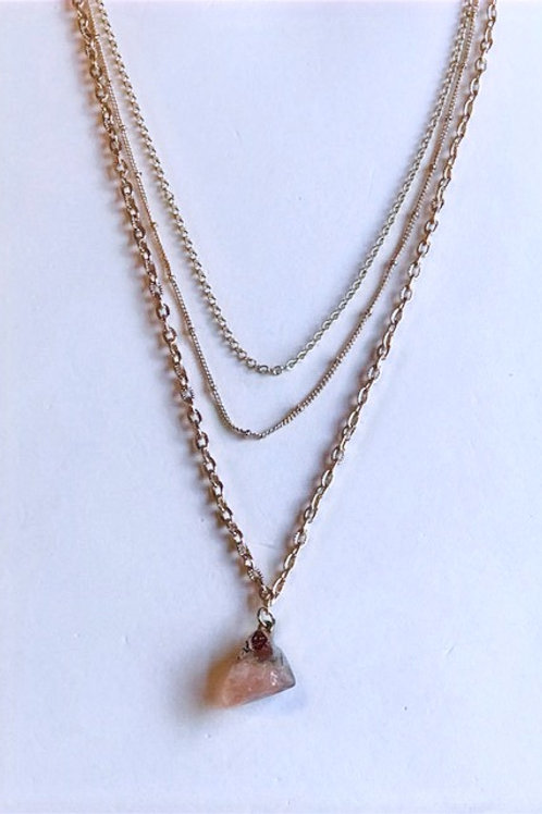 Pink Quartz Layered Necklace