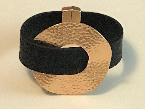 Leatherette Circle Bracelet
