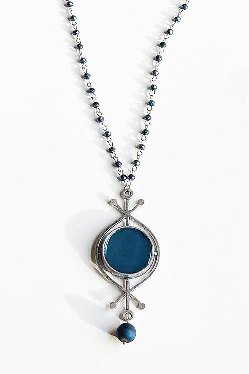 Blue Rune Necklace