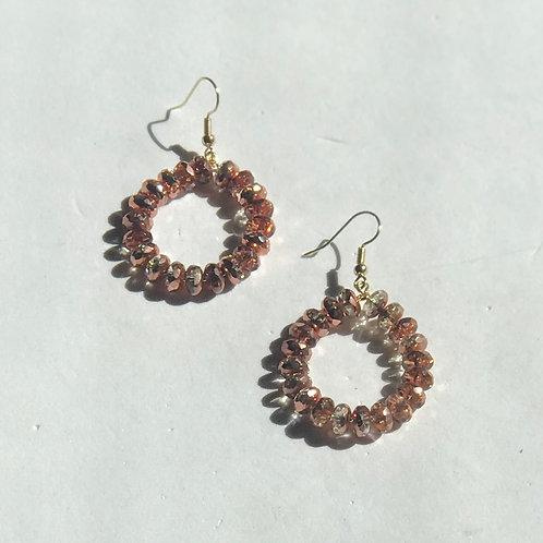Fire Czech Bead Earrings