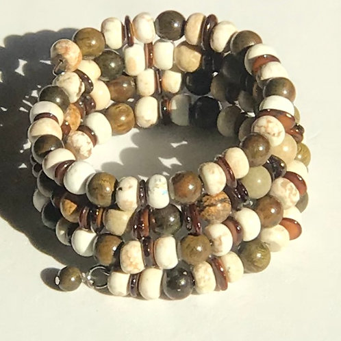 Brown & Cream Bracelet