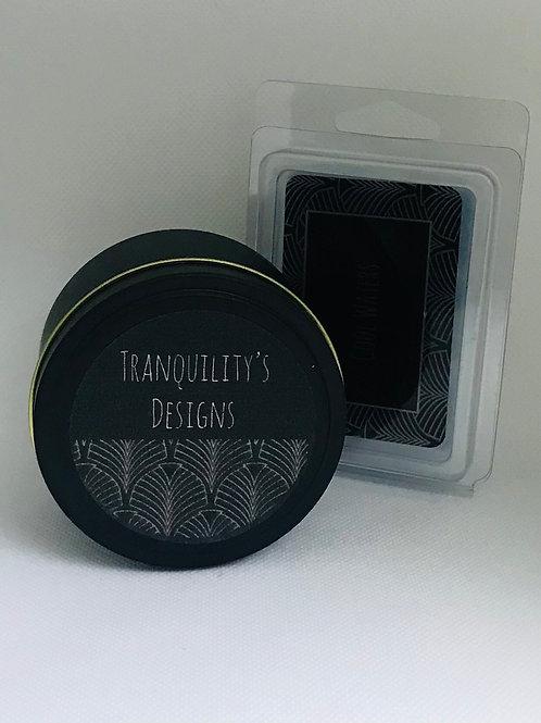 8.5 oz. Black Tin Candle Set