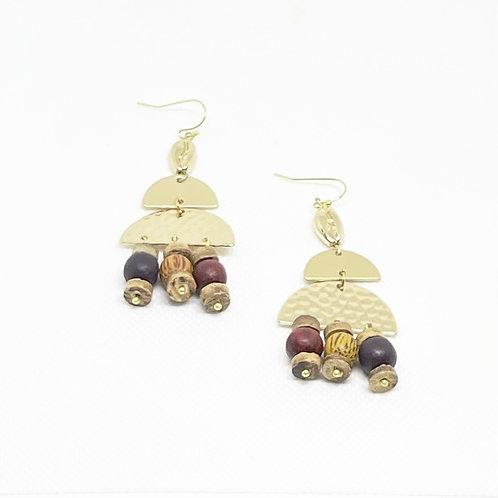 Semi-Circle Cowrie Shell Earrings