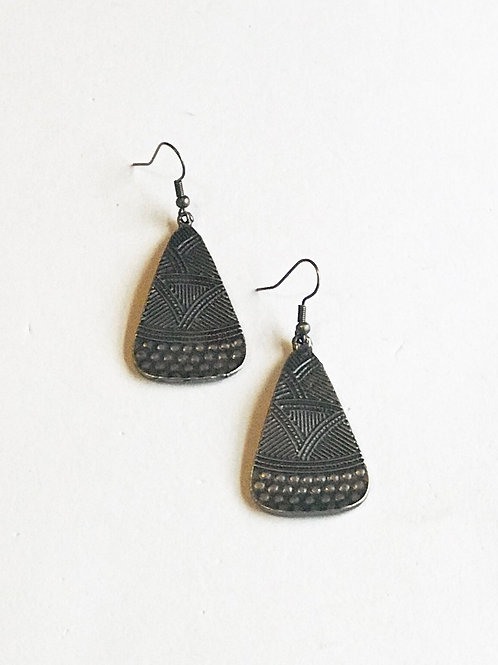 Bronze Tribal Earrings