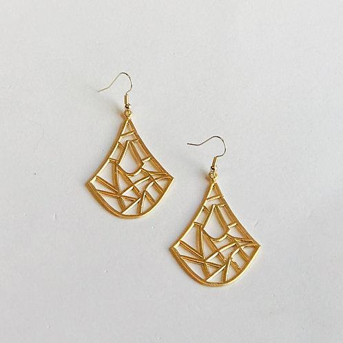 "Gold ""Tribal"" Earrings"
