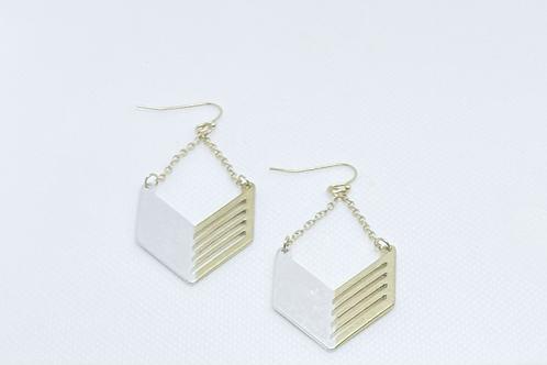 Two-toned chevron earrings