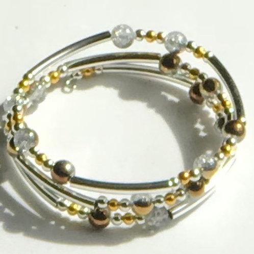 Two-Toned Wrap Bracelet