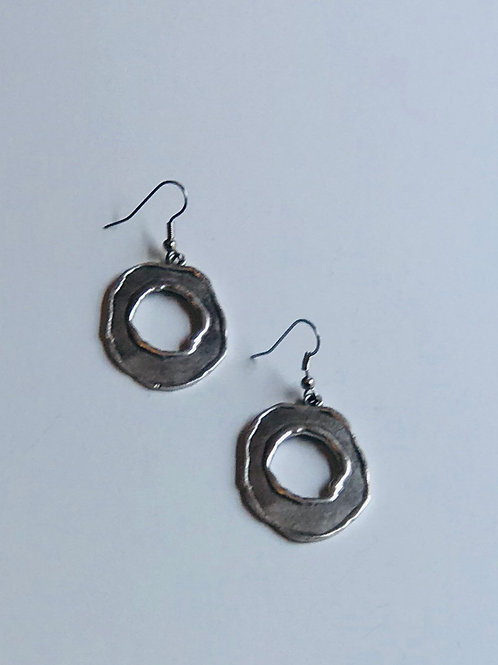 Oblong Circle Earrings