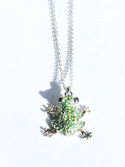 Frog Rhinestone Necklace