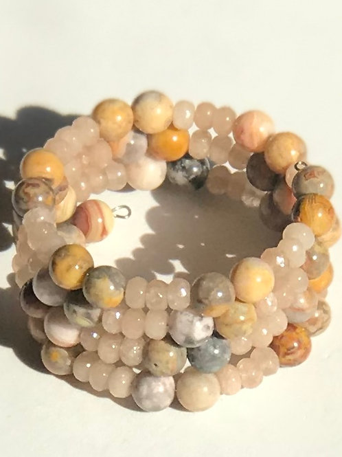 Natural Jasper Wrap Bracelet