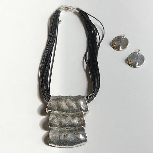 Black Cord Necklace w/Pendant