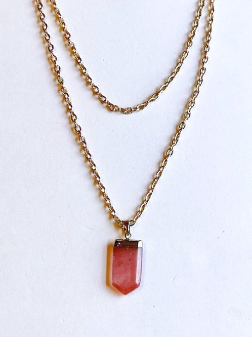 Coral Layered Necklace