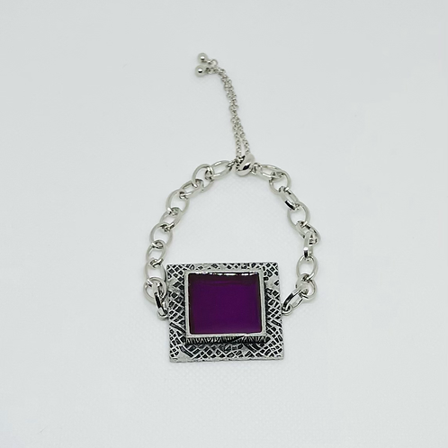 Purple Square Bracelet