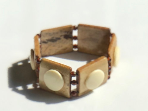 Wood Shapes Stretch Bracelet