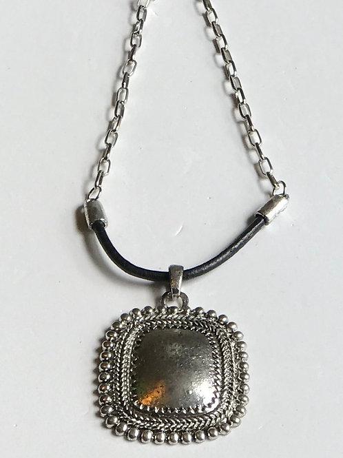 Silver & Black Necklace