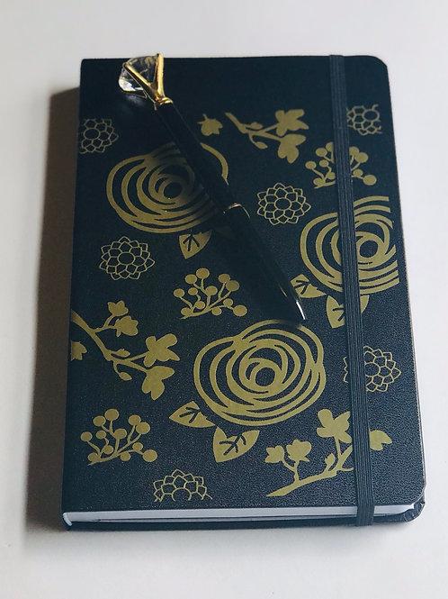 Gold Flower Journal & Pen