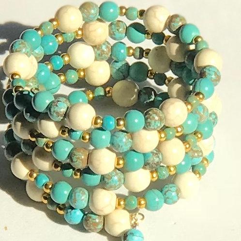 Turquoise & Cream Bracelet