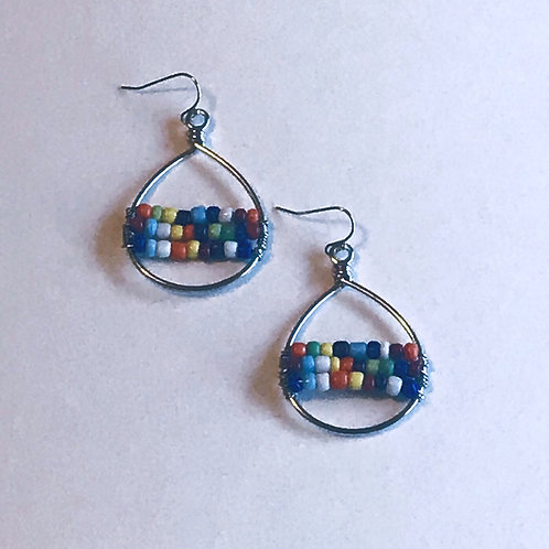Multicolor Sead Bead Earrings