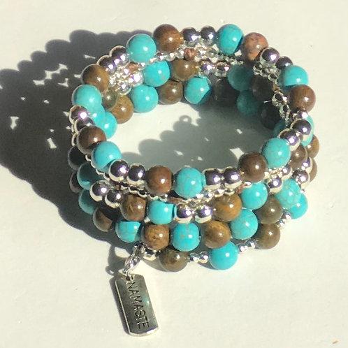 """""""Namaste"""" Turquoise Bracelet"""