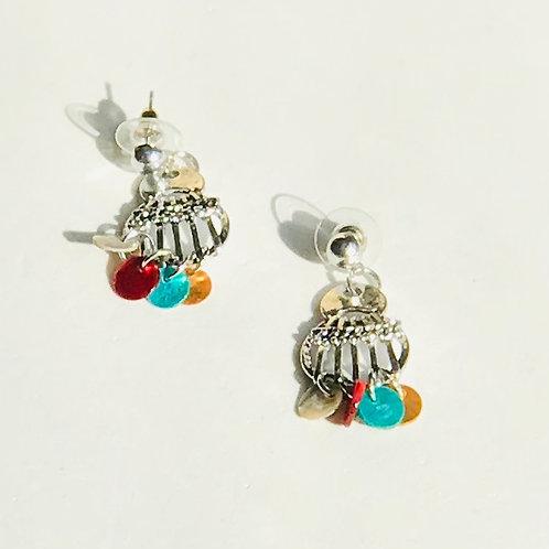 Multi-color Shell Earrings