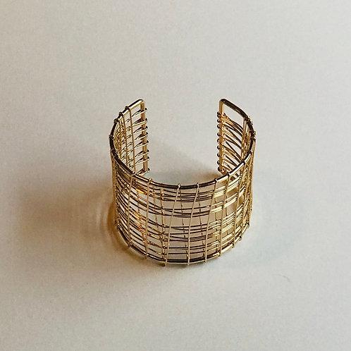 Wire wrapped cuff