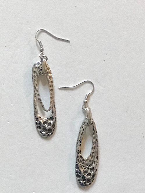 Hammered Drop Earrings
