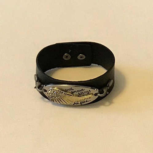 """Wings"" leather bracelet"