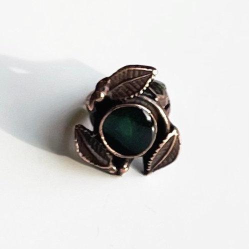 Antique Bronze Leaf Ring