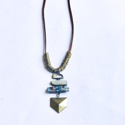 Boho Stacked Stone Necklace