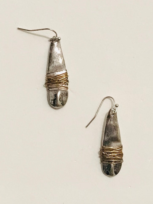 Two-Toned Wire Wrapped Drops
