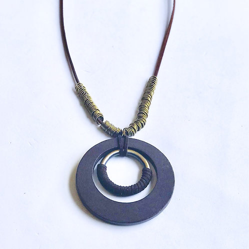 "Wood ""Ring"" Necklace"