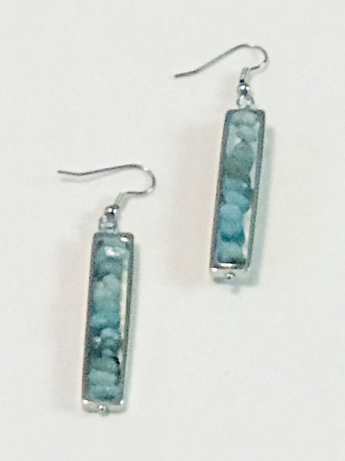 Blue Amazonite Earrings