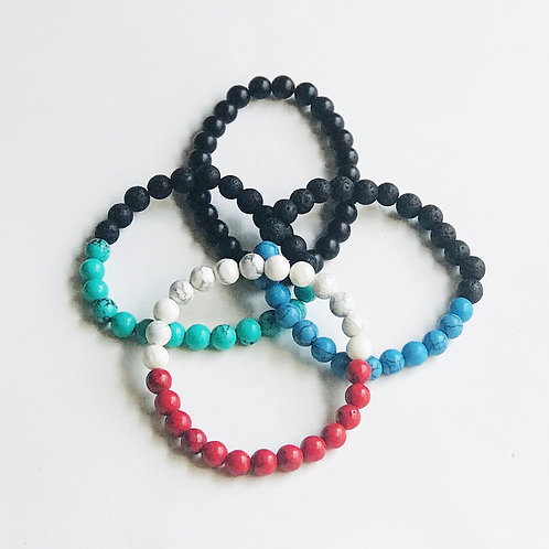 Mala & Lava Bead Bracelets