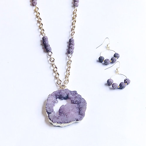 Purple Druzy Set
